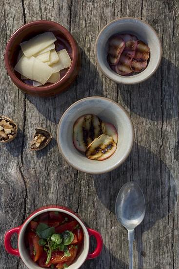 summer food; healthy; salad; snack;  photo