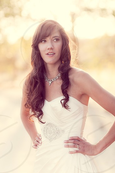 Paso Robles CA Bridal portrait; The Loading Chute country Wedding.  photo