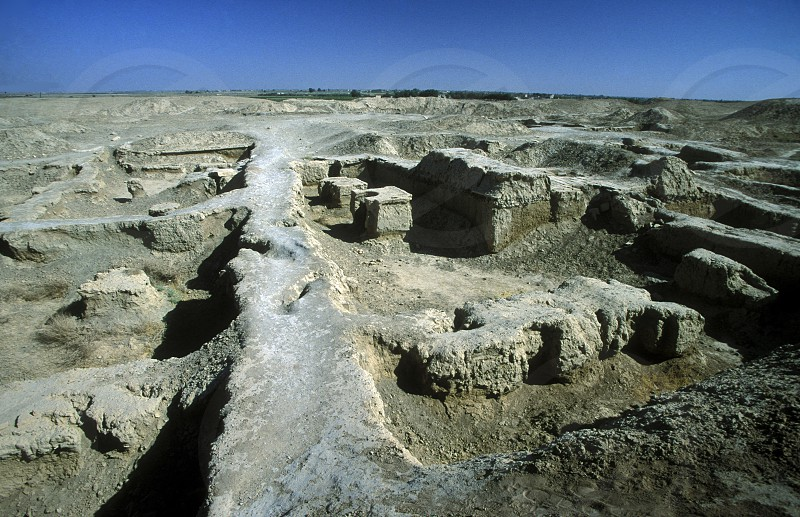 the ruins of Dura Europos near the village of  Abu Kamal in the east of Syria in the middle east photo