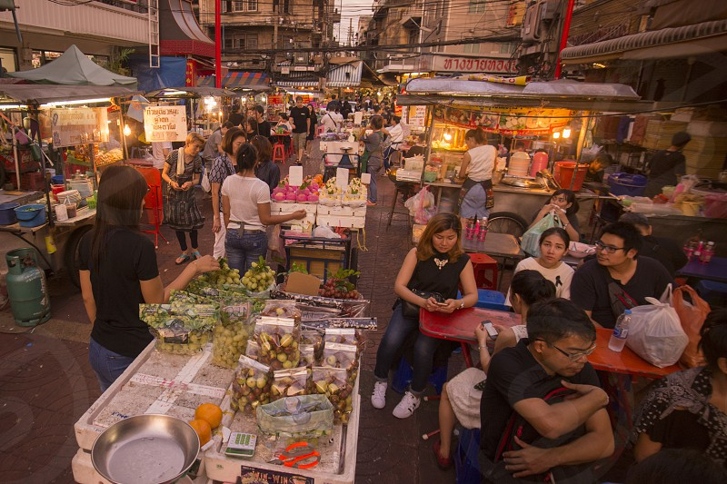 the Marketstreeti in the China Town in the city of Bangkok on 7. 12. 2016 in Thailand photo