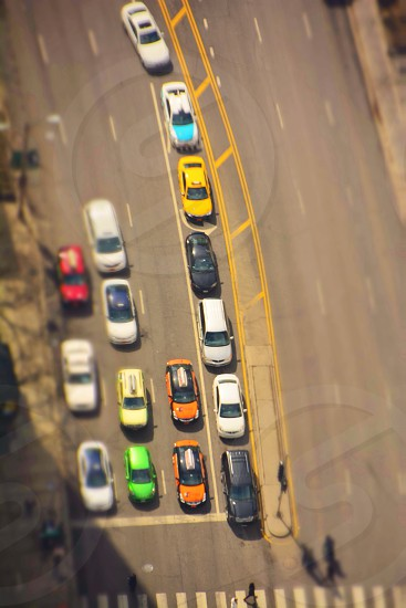aerial view of cars photo