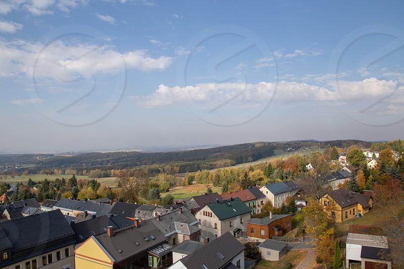 the little city Schöneck in Vogtland in saxony photo