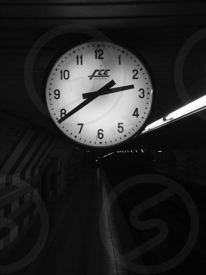 clock metro black&white. photo