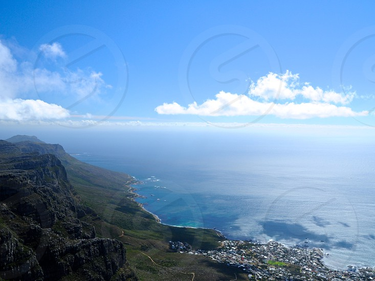 Cape Point view from Table Mountain. Cape Town South Africa. photo