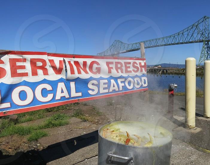 Lobster pot on the boil Astoria Oregon photo