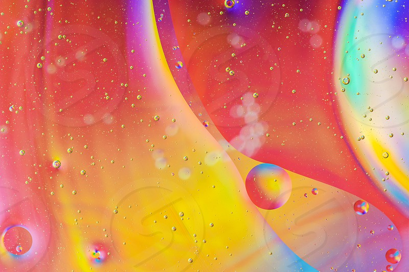 Abstract background in macro space style. Warm color photo