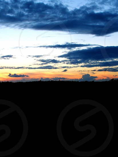 Sunset and Clouds France photo