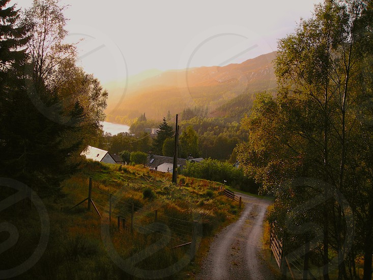 A look down the valley in Strathconon Scotland photo