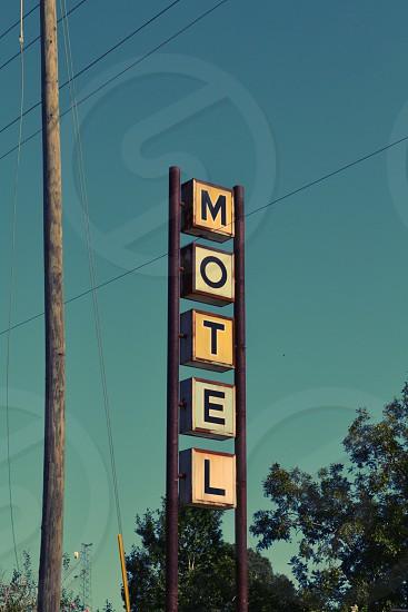 Motel Sign photo