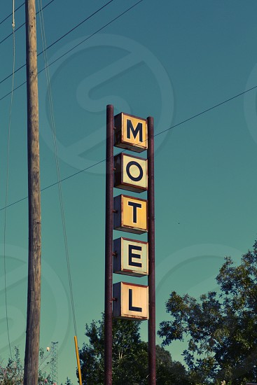 Motel sign USA photo