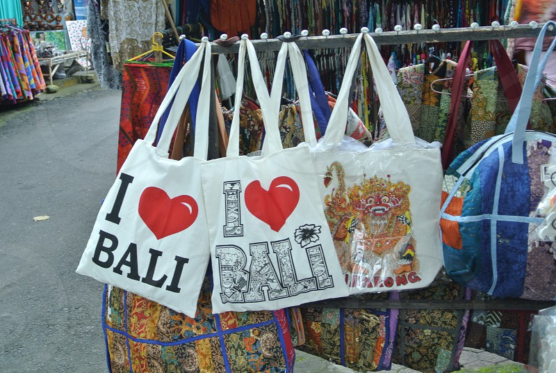 Souvenirs Bali I Love Bali Bags Home Industry Craft photo