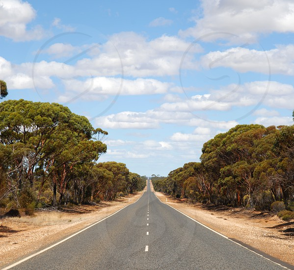 a long way straight for thousands of kilometers through the gigantic Australia  photo