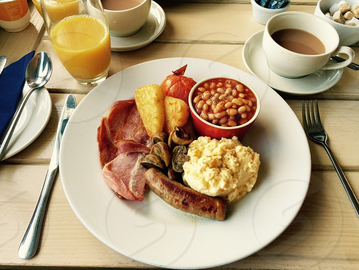 Beautiful home cooked breakfast photo