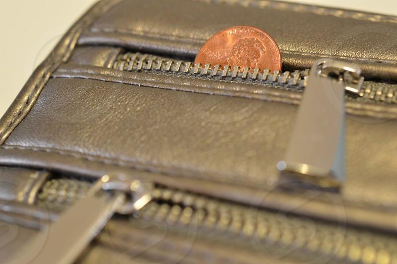 Wallet Zipper Penny Money Finance photo
