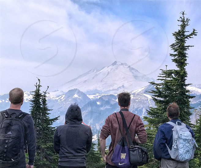 My friends taking in the view of Mt. Baker. photo