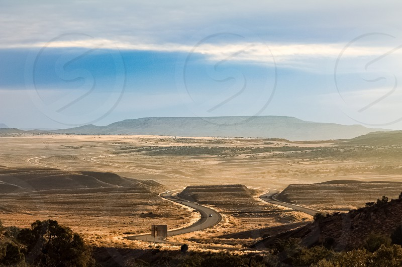 View of a road through the state of Utah photo