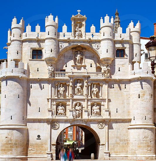 Burgos Arco de Santa Maria arch near Cathedral at Castilla Leon of Spain photo