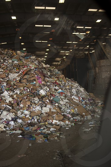 pile of garbage inside room photo