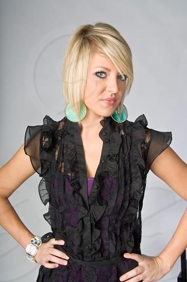 hair style model portrait face makeup woman female photo