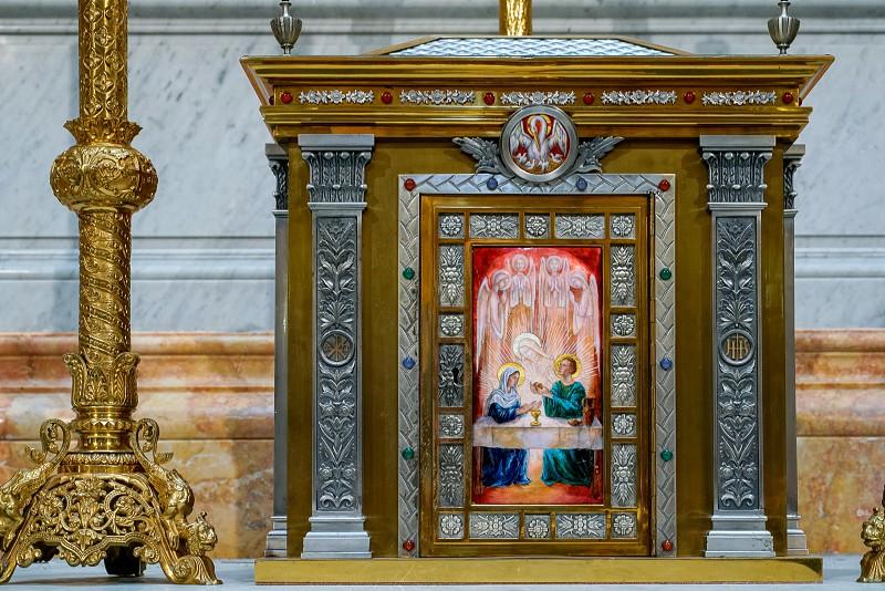 VALENCIA SPAIN - FEBRUARY 27 :  Interior view Church of the Sacred Heart of Jesus in Valencia Spain on February 27 2019 photo