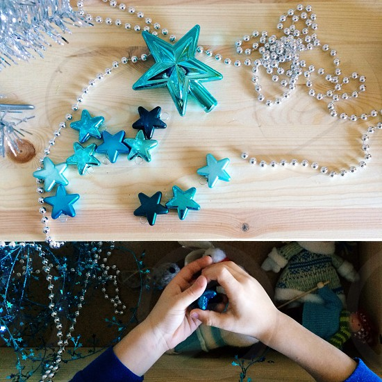 green five-point star ornament photo