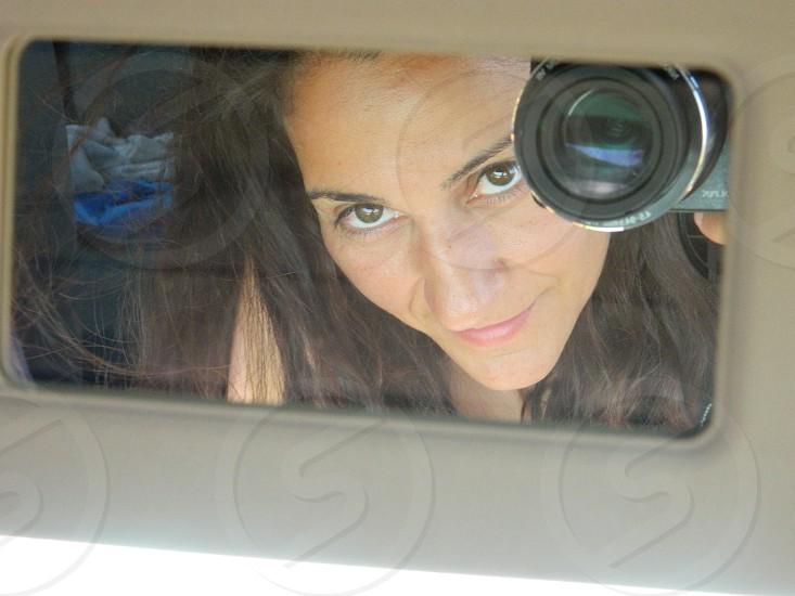 Inside Car mirror camera photo