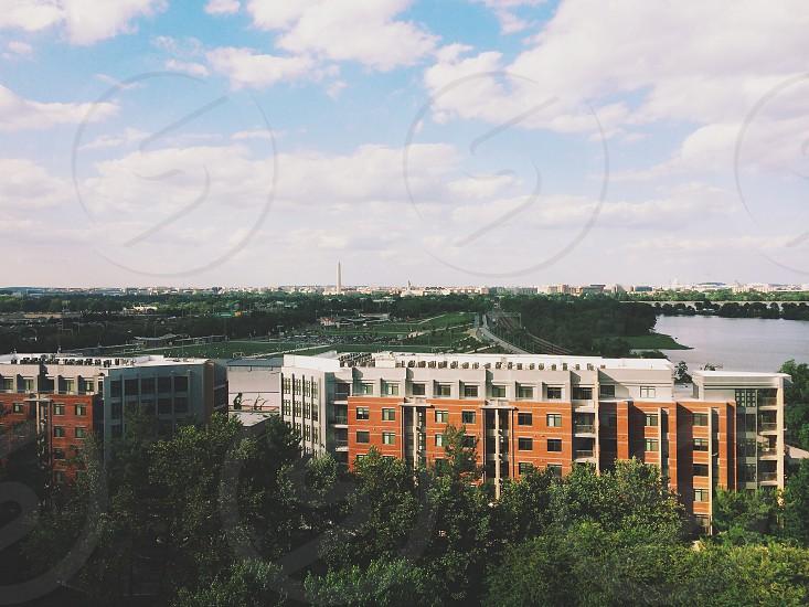 View of Washington DC from Crystal City in Arlington VA photo