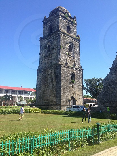 An old church in Paoay Ilocos Philippines photo