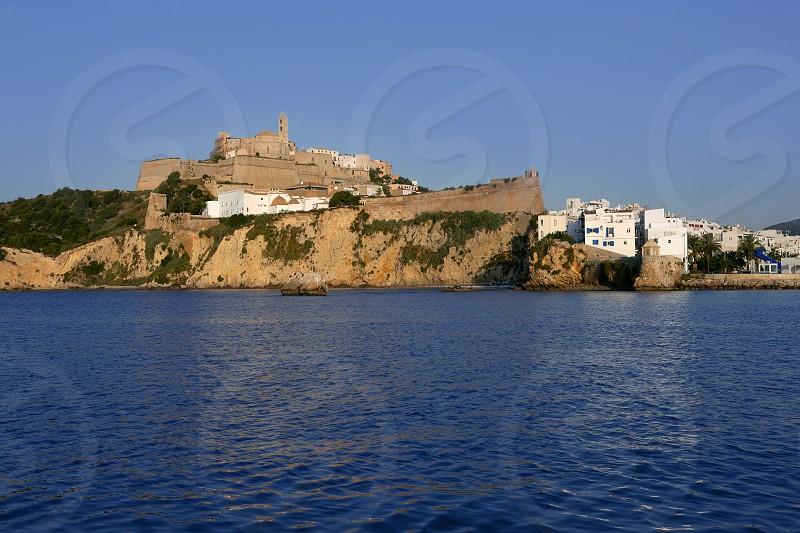 Ibiza Balearic Mediterranean white island from Spain photo