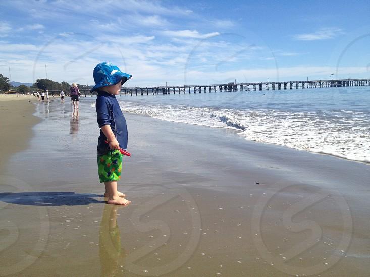 My son at Goleta Beach. photo
