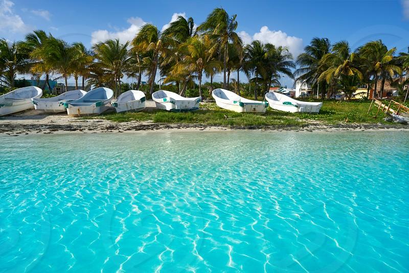 Mahahual Caribbean beach in Costa Maya of Mayan Mexico photo