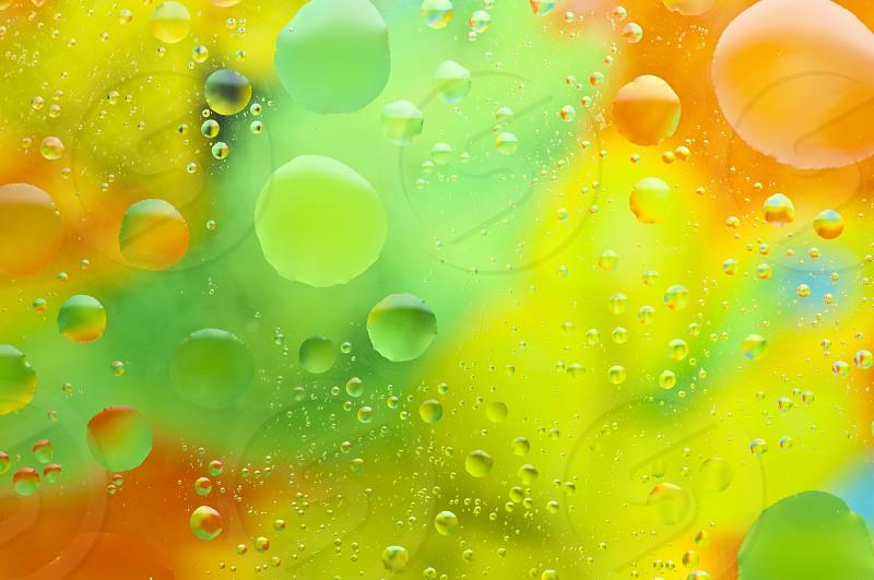 oil drops in water photo