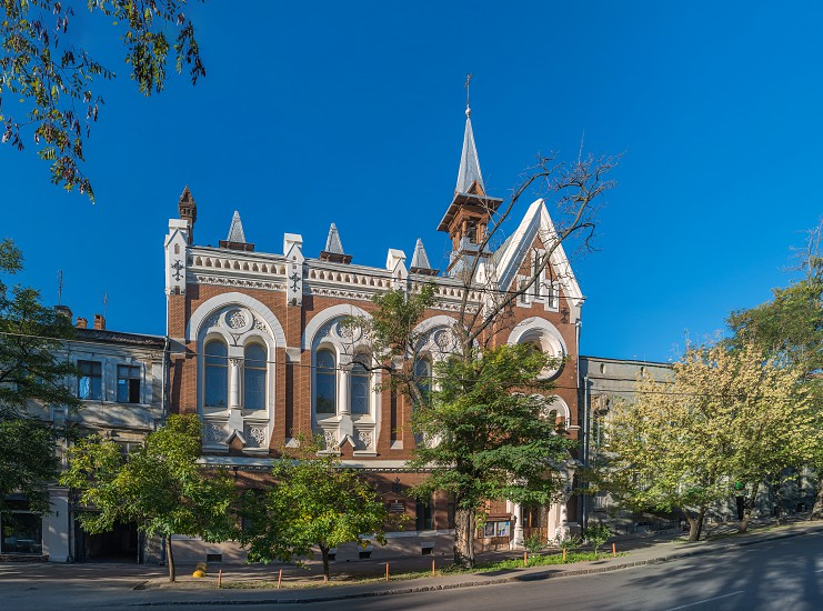 Odessa Ukraine - 04.10.2018. Evangelical Presbyterian Church in the historical center of Odessa Ukraine photo