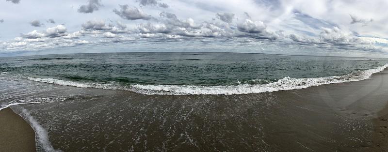 Beautiful beach panorama photo