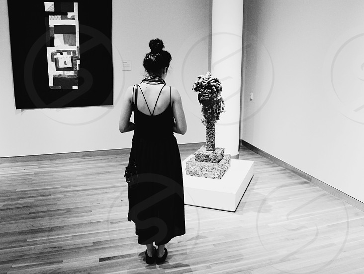 Wife at the museum photo