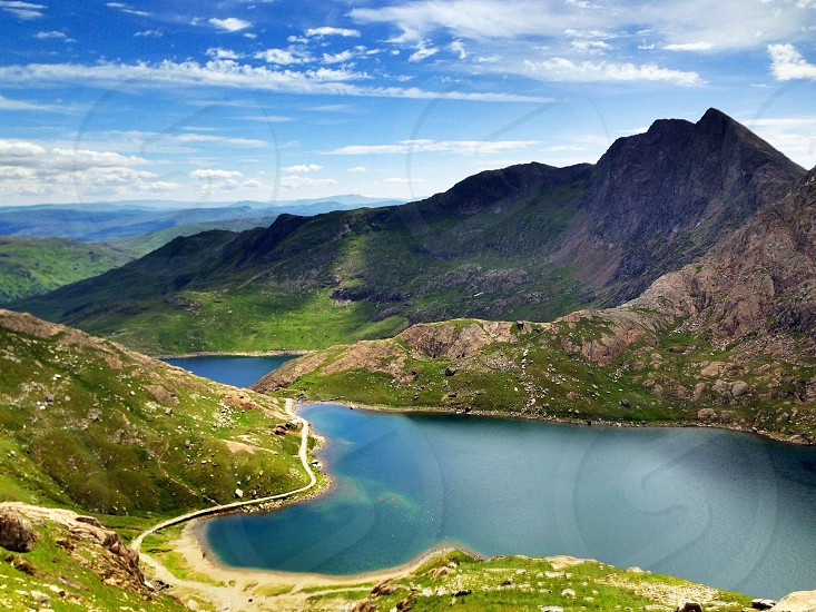 A beautiful view of the mountains of Snowdonia Wales United Kingdom. photo