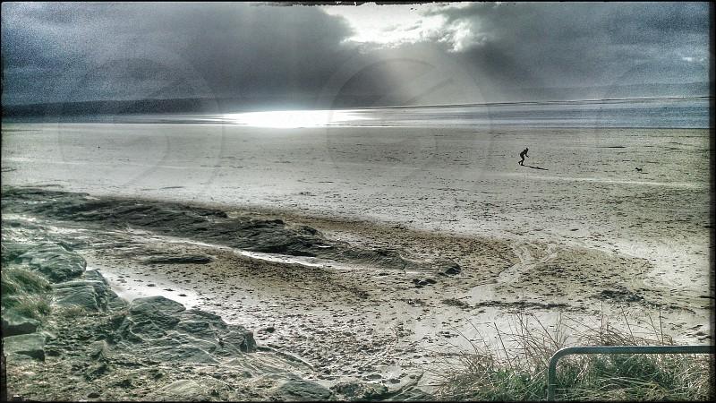 Hoylake beach on a windy day photo