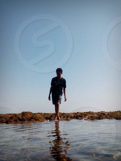 balekambang beach indonesia photo