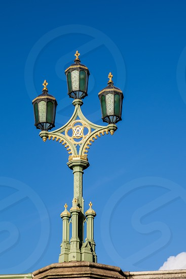 Old Fashioned Lamp in London photo