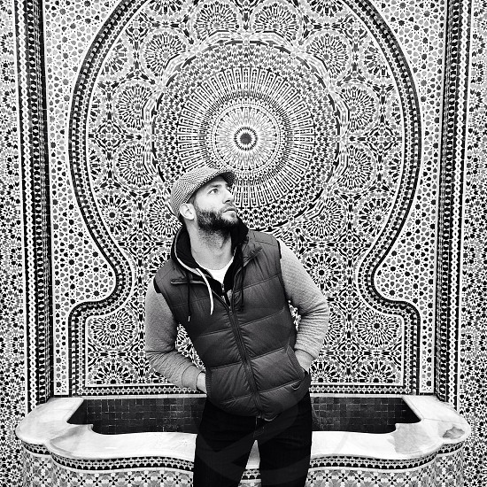 ||Posing|| Taken in front of the beautiful fountain wall at Garfield Park Conservatory in Chicago.  photo