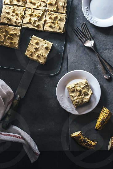 Peanut Butter & Banana Blondies photo