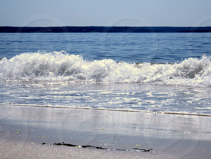 ocean waves Water blue blue skies  sand landscape sunny day beach energy photo