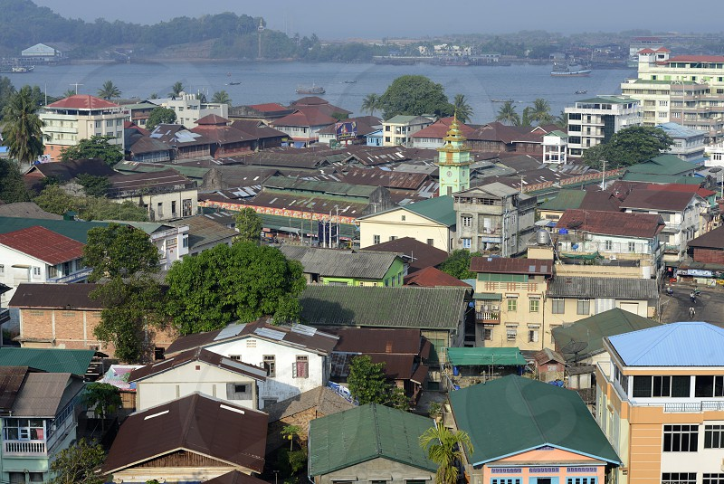 the city centre of Myeik in the south in Myanmar in Southeastasia. photo
