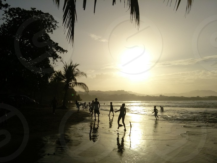 Sunset at Puerto Viejo Limon Costa Rica photo