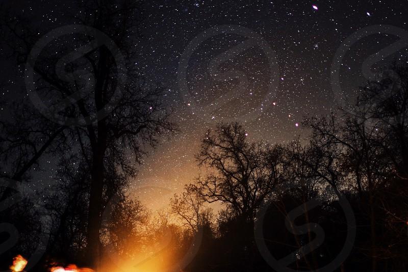 Stars and Campfire photo
