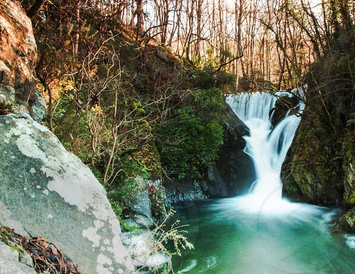 Waterfall at Furnace near Aberystwyth Wales. ©Jon Freeman photo