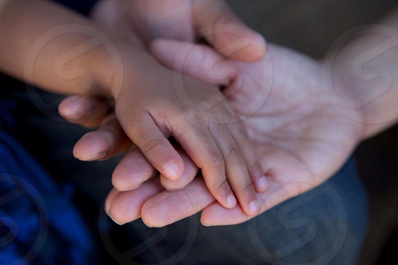 Mommy Daddy and Child Hands photo