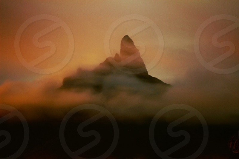 Mountain in cloud. Edited with Litely; Linen High photo