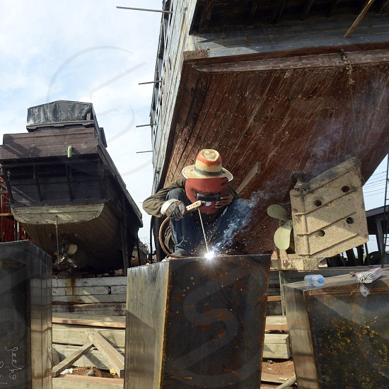a Ship manufactur near the city of Myeik in the south in Myanmar in Southeastasia. photo