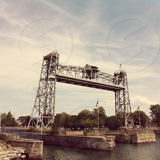 white steel tower photo